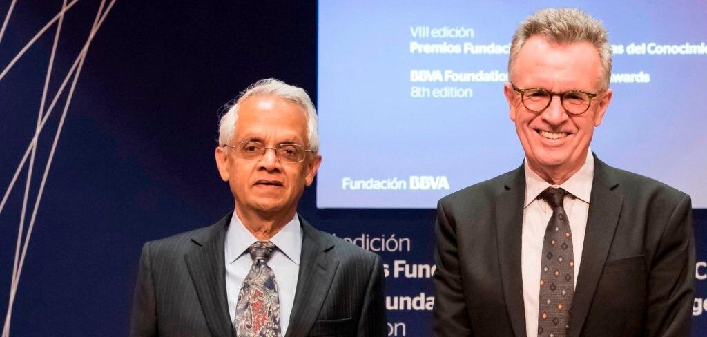Imagen de Veerabhadran Ramanathan y Martin Ravallion, premios Fundación BBVA Fronteras del Conocimiento