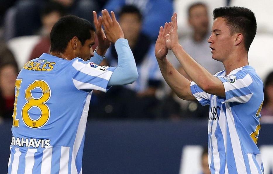 Rosales y Juanpi, jugadores venezolanos del Málaga | Foto: EFE