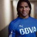El delantero colombiano y embajador de BBVA, Radamel Falcao