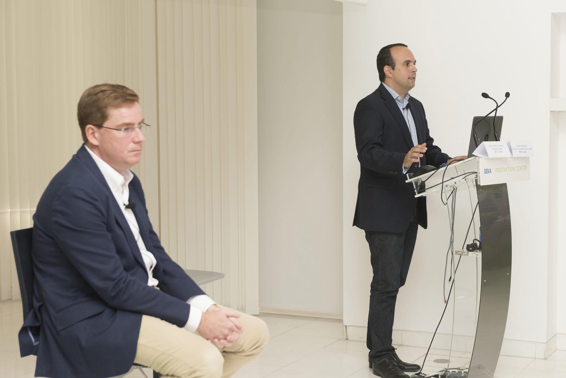 Fotografía de la presentación de la aplicación digital BBVA