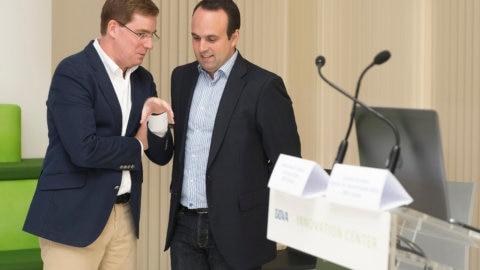 Fotografía de Gonzalo Rodríguez Rodríguez, Director de Transformación Digital BBVA España, y Manuel Moure Tribaldos, Estrategia Digital BBVA España