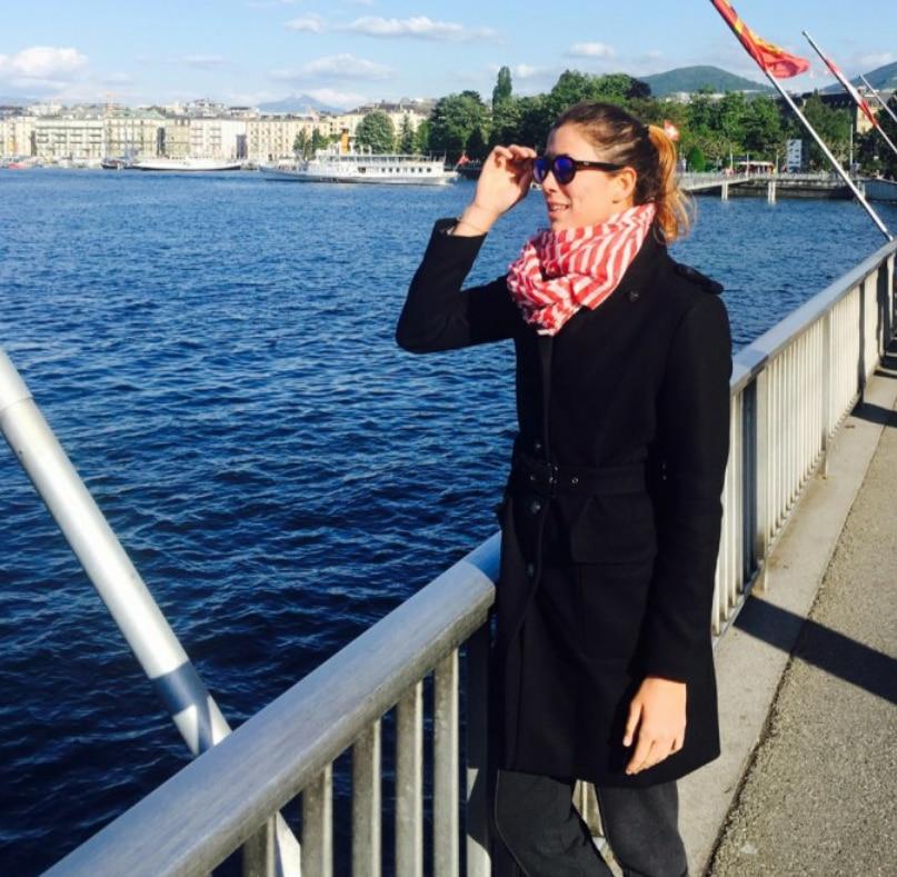 Fotografía de Garbiñe Muguruza en Ginebra