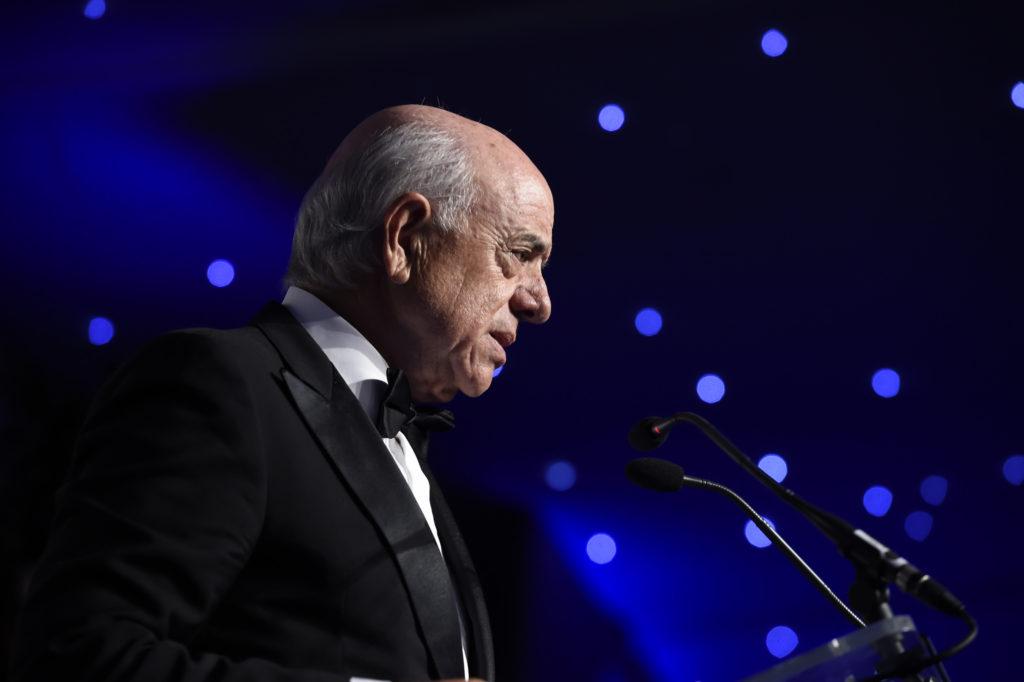Francisco González durante su discurso en la gala de Euromoney donde ha sido elegido mejor banquero del año