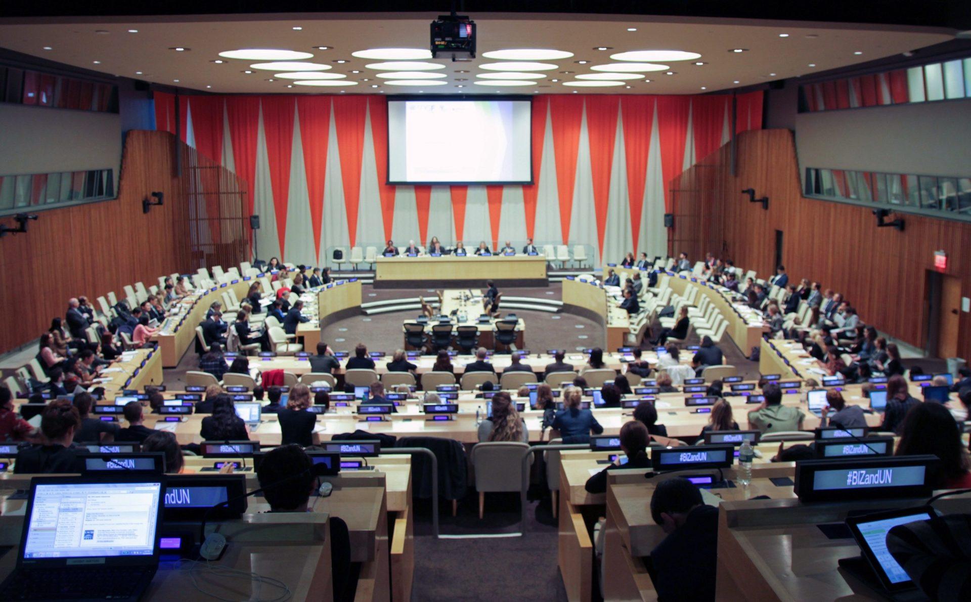 Fotografía de la sede del ECOSOC (ONU) del que FMBBVA es organismo consultor