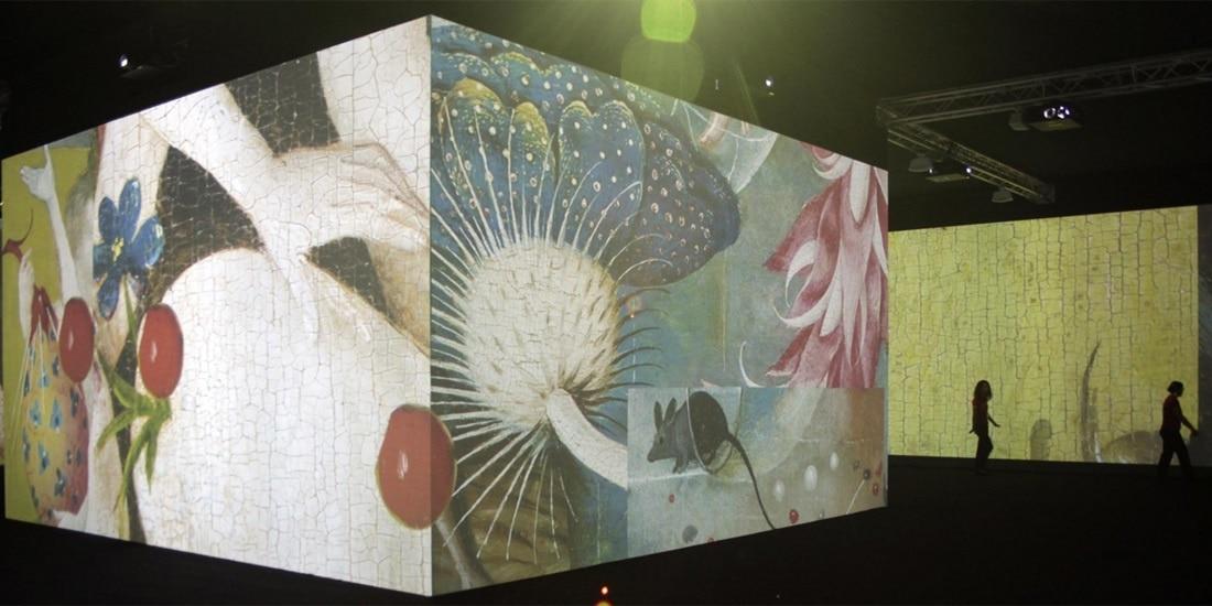 Imagen de la videoinstalación Jardín infinito que se exhibe en el Museo del Prado patrocinada por la Fundación BBVA