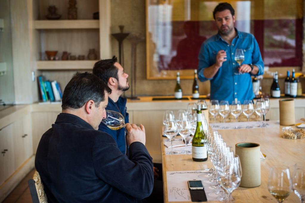 Josep Roca visitando viñas en Chile