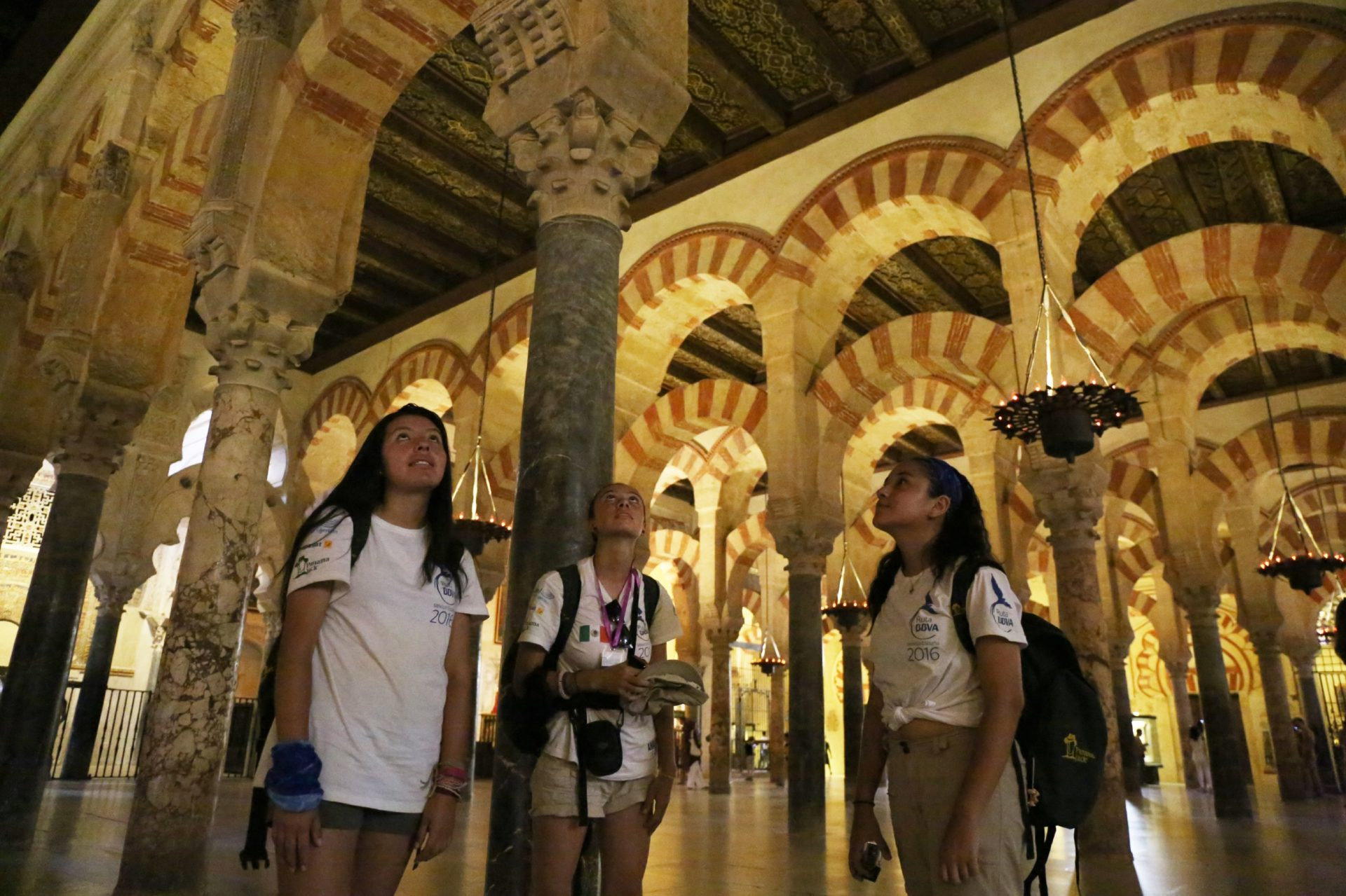 Los ruteros en la mezquita de Córdoba