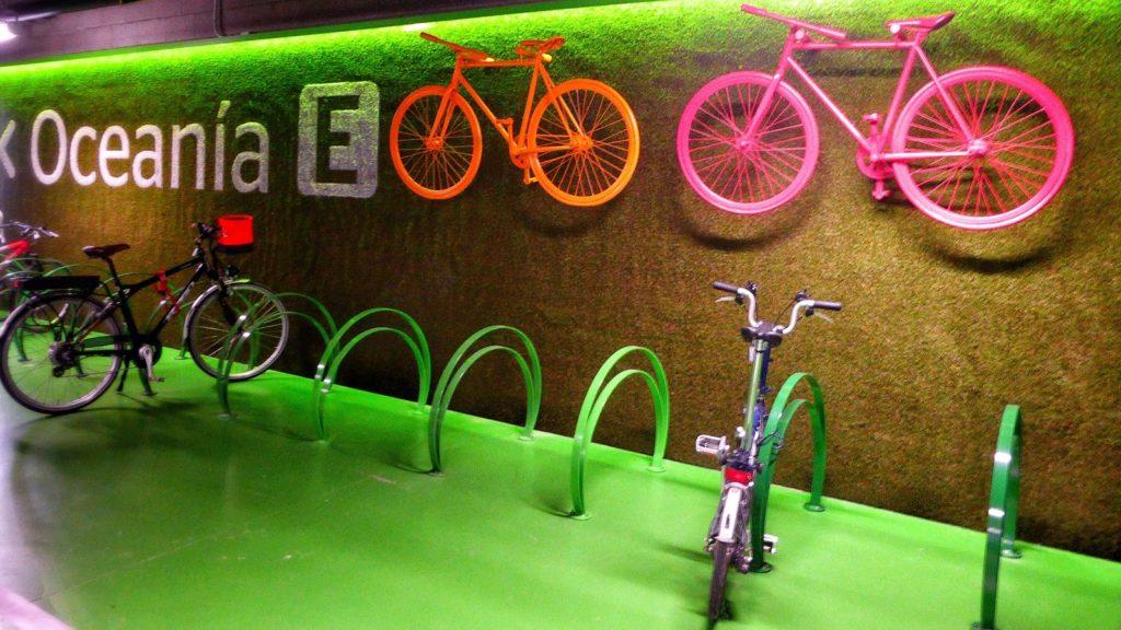 Imagen del Parking de bicicletas en la Ciudad BBVA