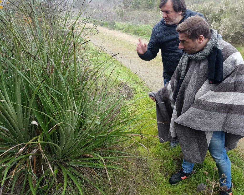 Fotografía de Paulo Russo y Jordi Roca en Talca Chile antes de la Gira BBVA