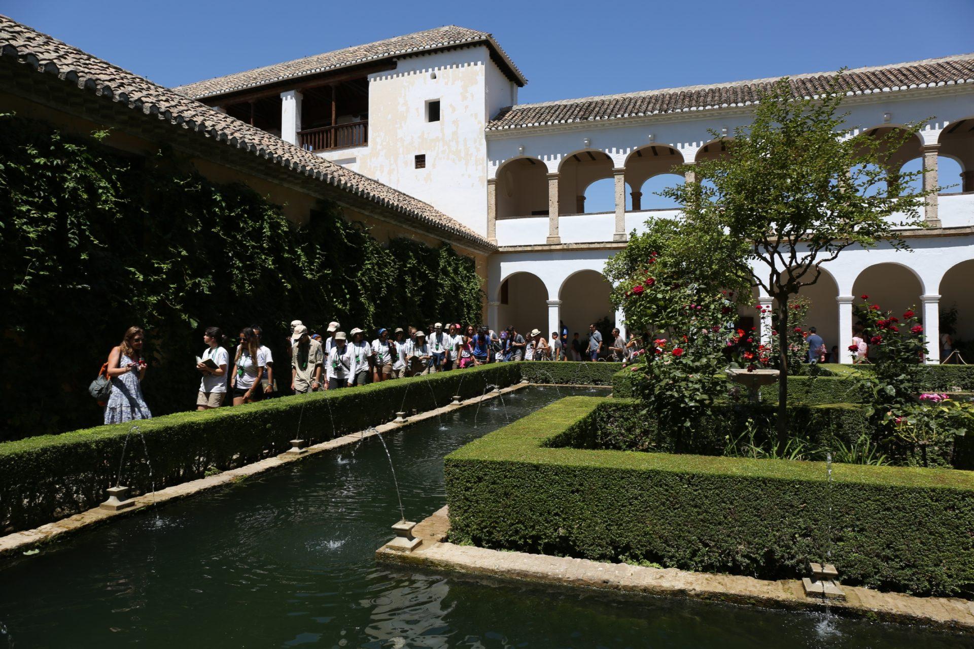 Ruta BBVA en los jardines del Generalife de la Alhambra , Granada 1