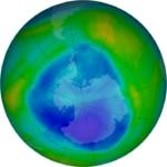 Imagen de la NASA del agujero de la capa de ozono, que se está cerrando según la Premio Fronteras Fundación BBVA Susan Solomon