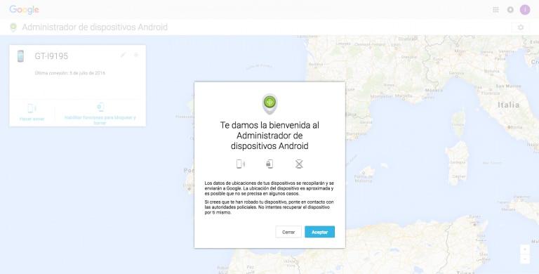 Recurso Google encontrar tu Android