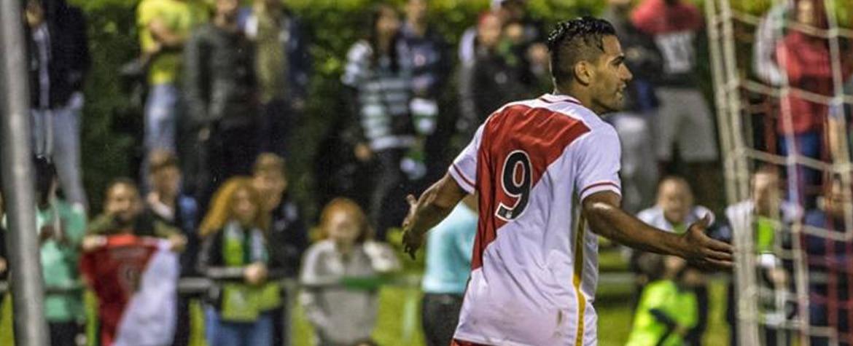 Falcao, delantero del Mónaco, celebra un gol | Foto: Facebook Mónaco