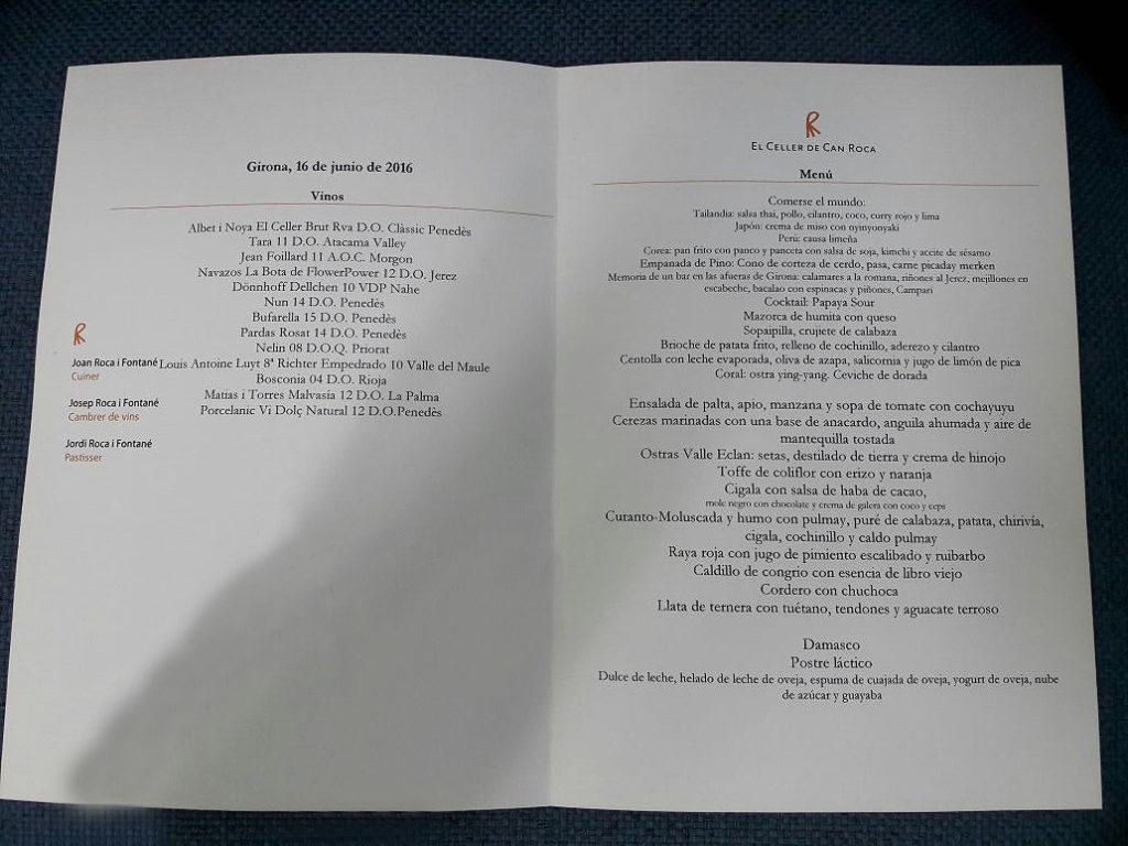 fotografia de menu celler chile gira roca gastronomia bbvaworld bbva