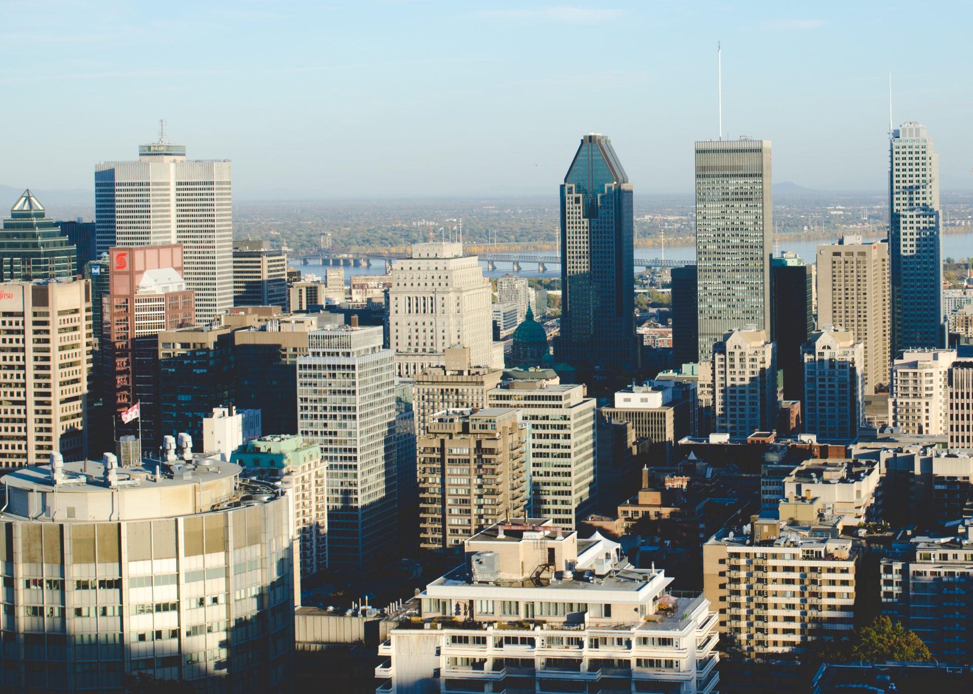 Fotografía del skyline de Montreal por Andrew Welch