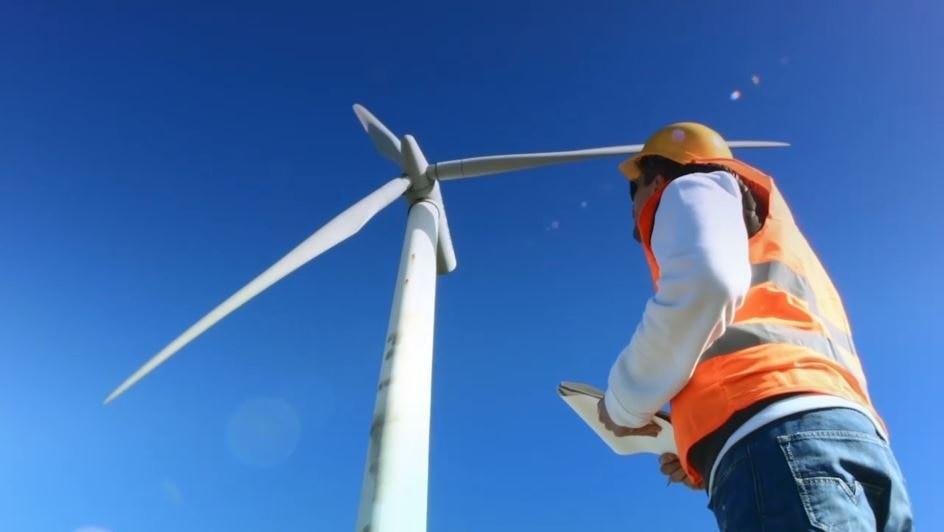 Fotografía de Energía eólica aerogenerador, molino