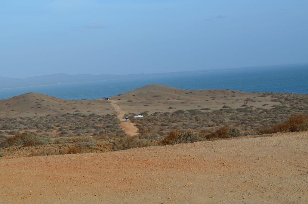 Desierto en El Cabo de la Vela, La Guajira, Colombia.
