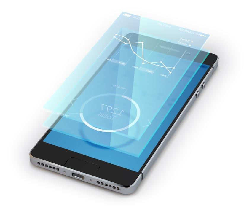 Fotografía de teléfono móvil banca digital