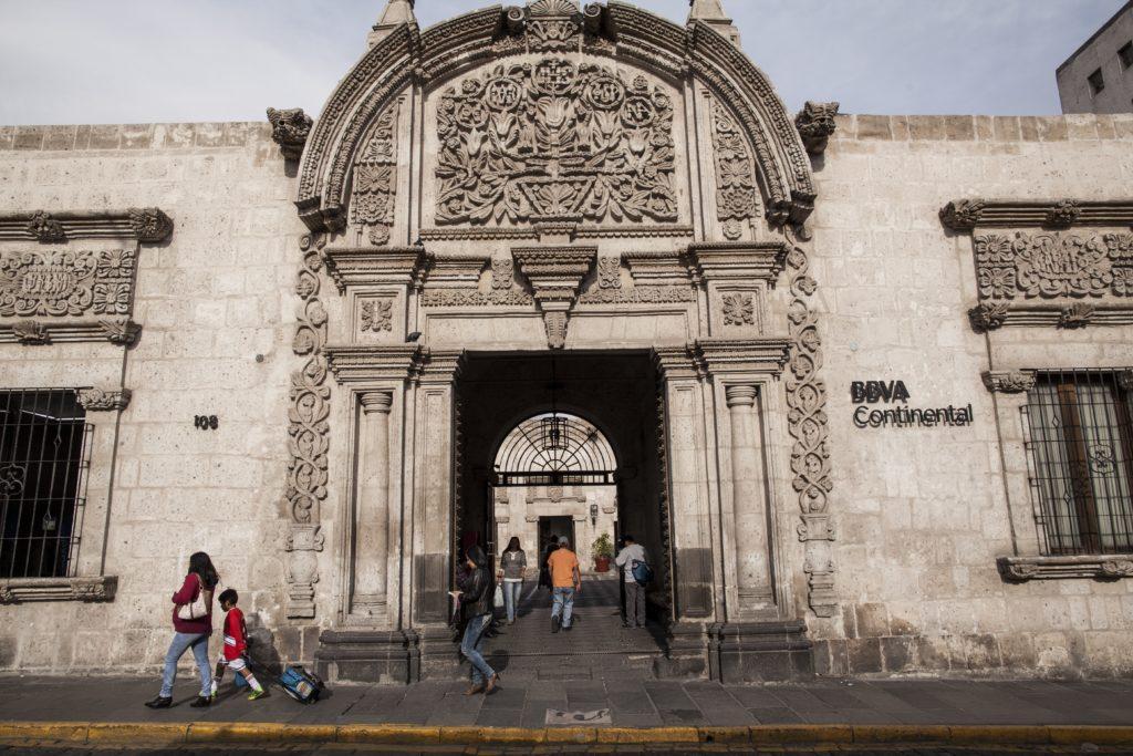 Fotografía de la casa Tristán del Pozo en Arequipa que preserva BBVA Continental.