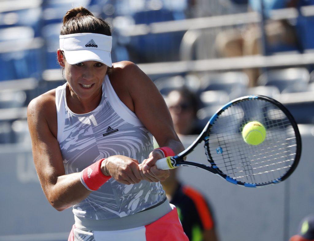 Fotografía de Garbiñe Muguruza en su debut en el US Open 2016