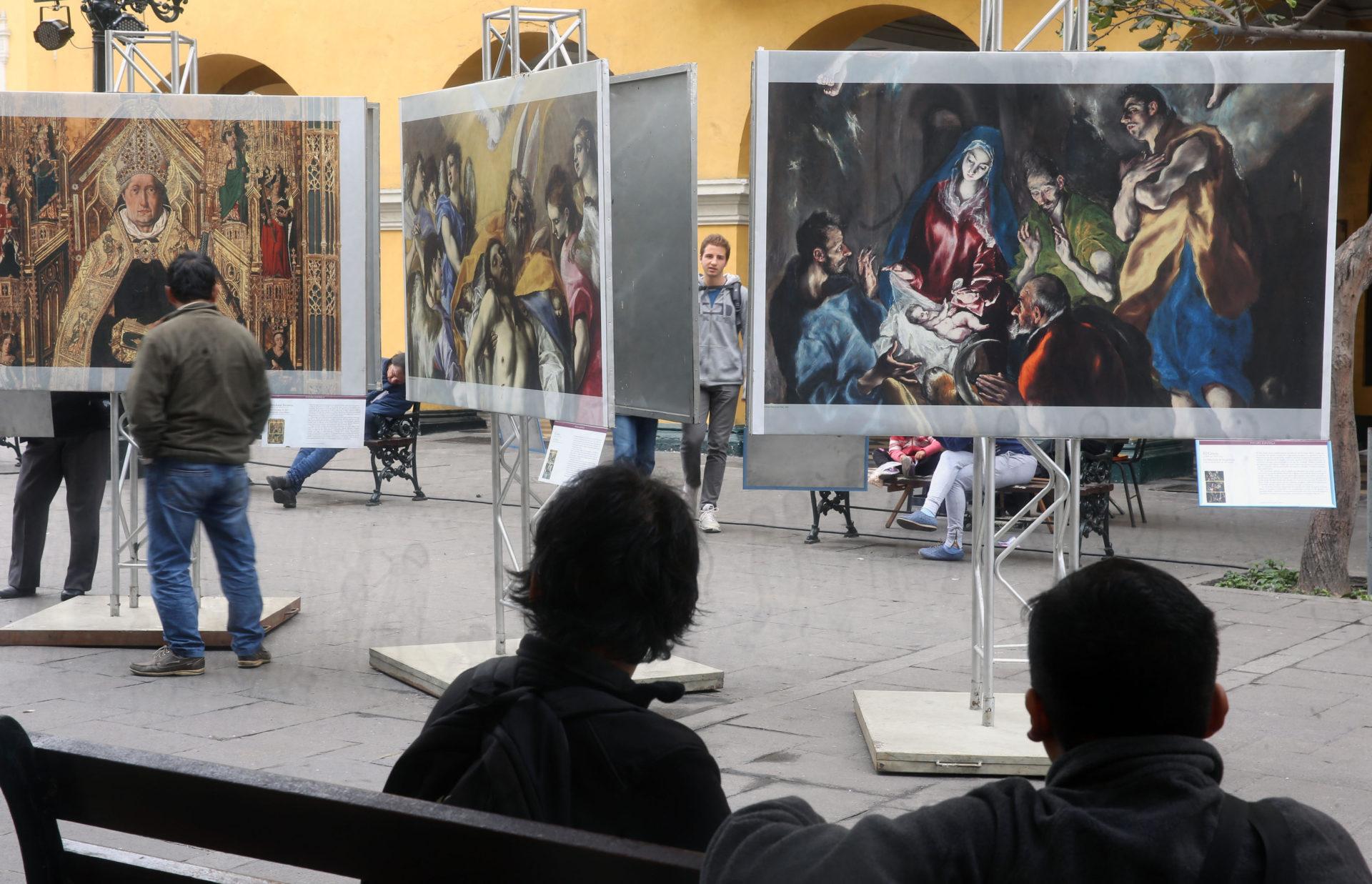 fotografia de Las obras más famosas del Museo del Prado de Madrid toman las calles de Lima EFE bbva