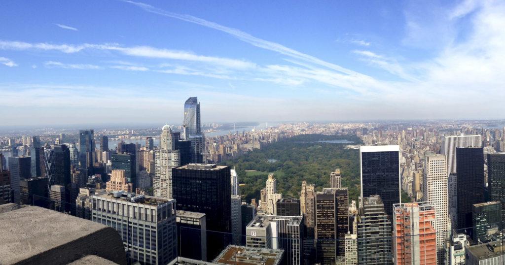 Fotografía de las vistas desde Rockefeller Central Park- Miriam Blanco
