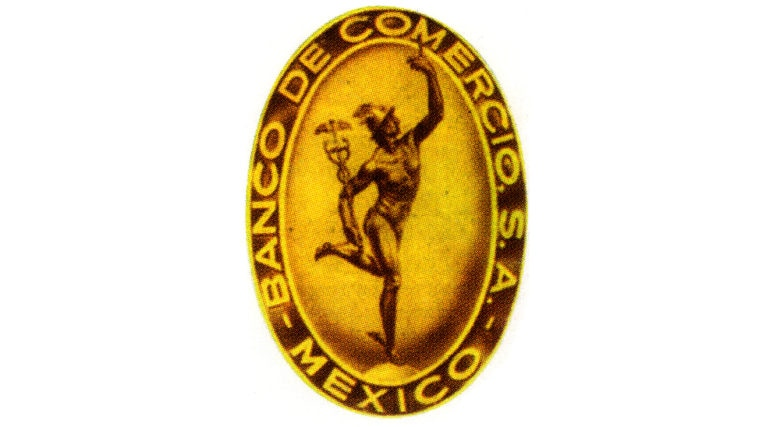 Fotografía de Primer Logotipo 1932 Banco de Comercio BBVA