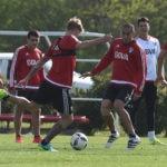 Fotografía de entrenamiento River Plate