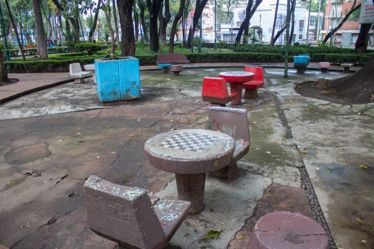 Antes Area Mesas Mejora Urbana