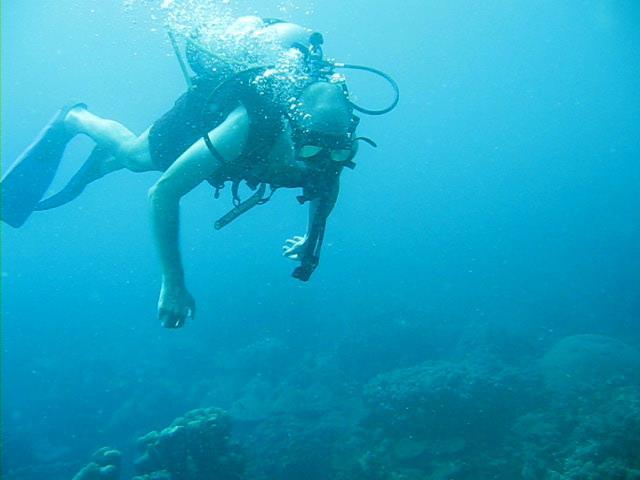 Fotografía buceando en las Islas del Rosario