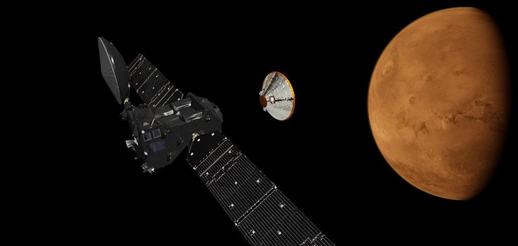 Imagen de la sonda Schiaparelli, que protagoniza una de las conferencias de la Fundación BBVA
