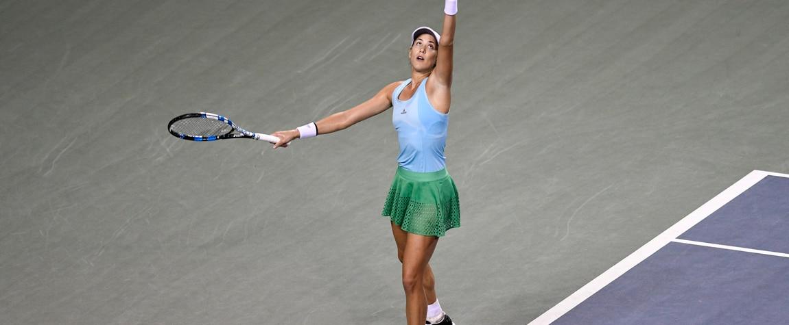 Fotografía de Garbiñe Muguruza en el torneo de Tokio 2016