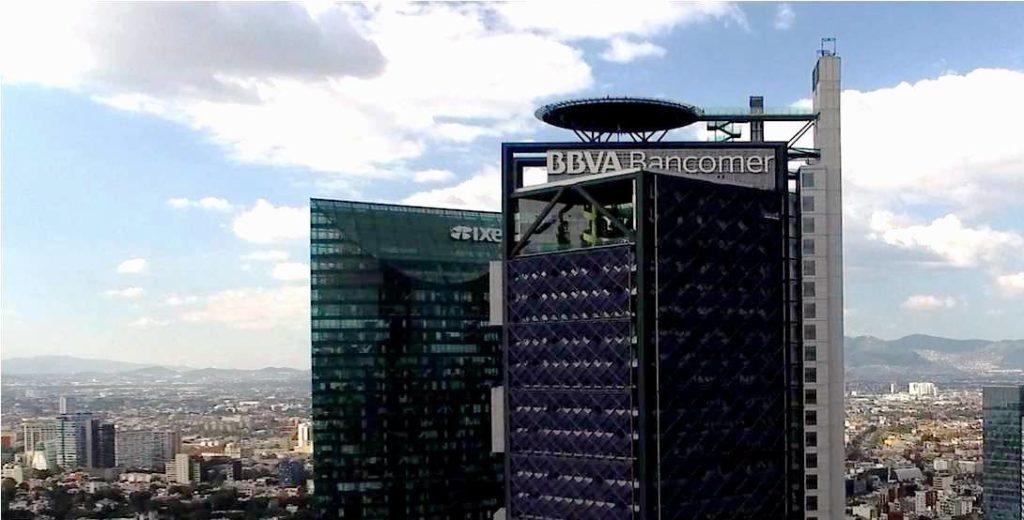 Vista panorámica de la Torre BBVA Bancomer