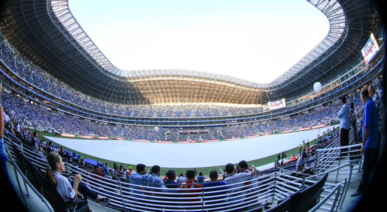El estadio BBVA Bancomer, campo de los Rayados de Monterrey