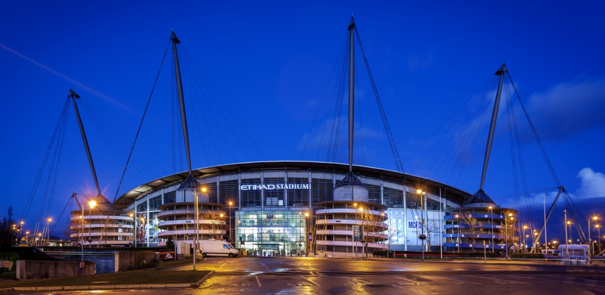 El estadio del Manchester City, el Etihad.