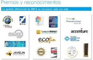 premios y reconocimientos bbva - diciembre 2016