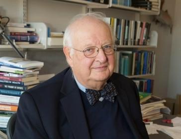 Fotografía de Angus Deaton, premio Nobel de economía, Fundación BBVA, Fronteras del Conocimiento