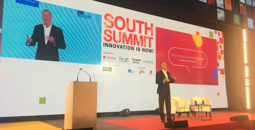 Anthony Thomson en su presentación en South Summit