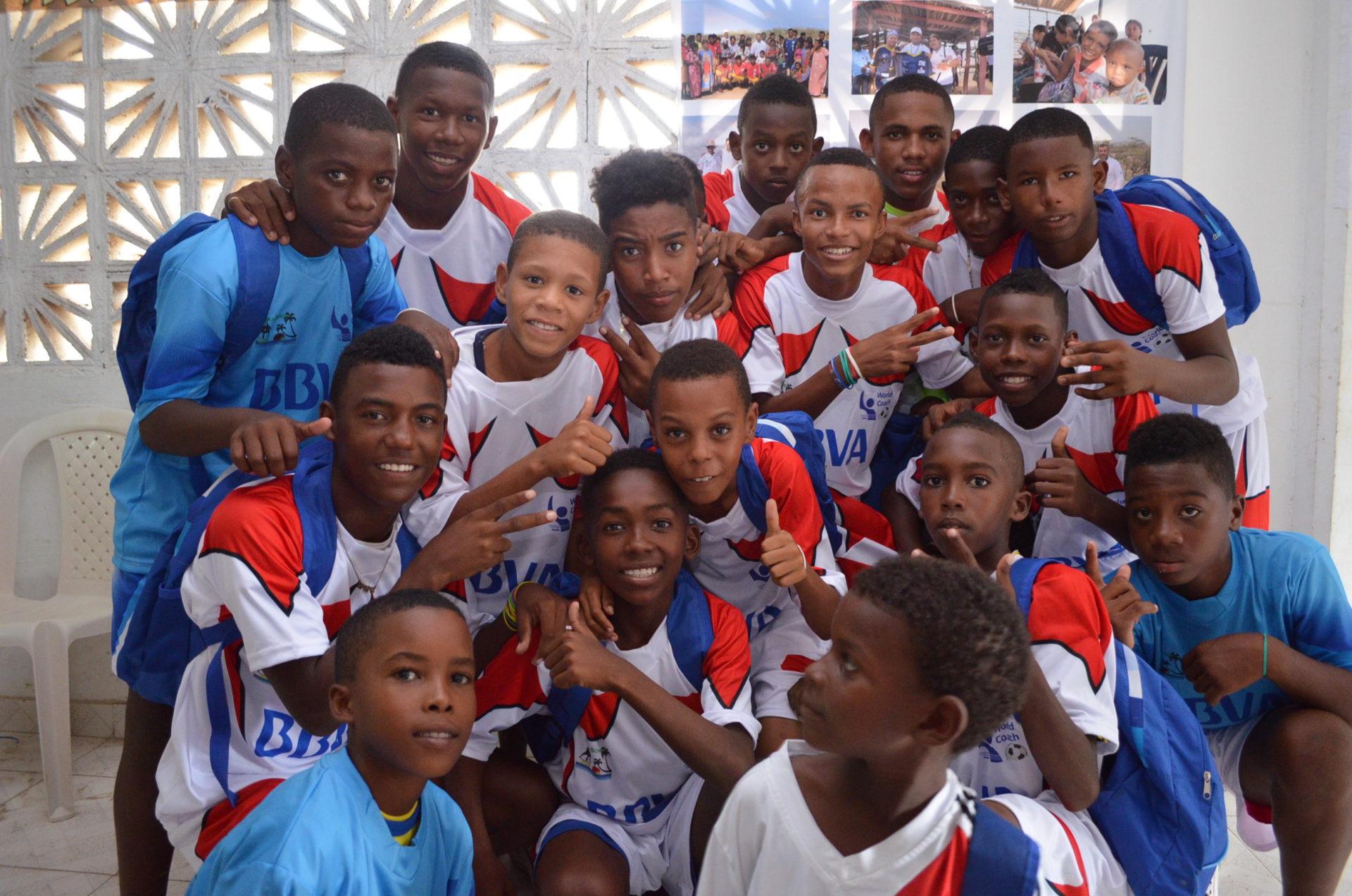 Fotografía de Jóvenes de la Institución Educativa de Tierrabomba