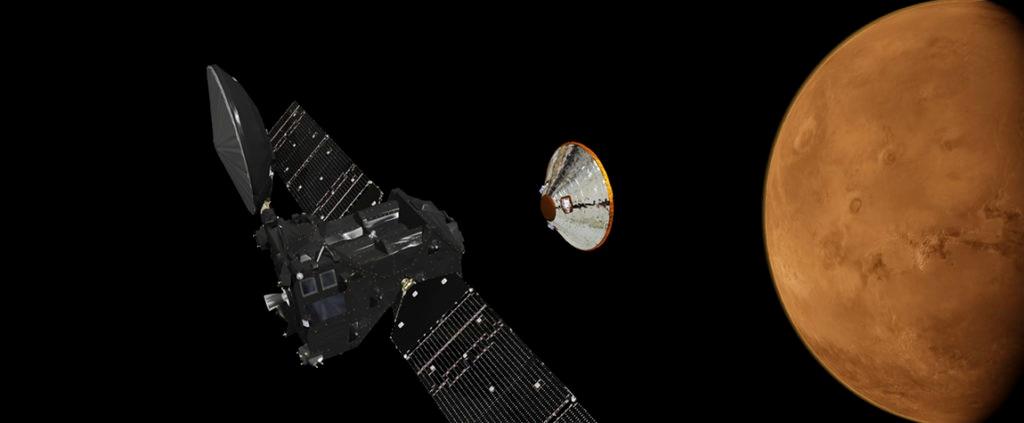 Imagen de las naves de la misión ExoMars, que Mark McCaughrean explicó en la Fundación BBVA