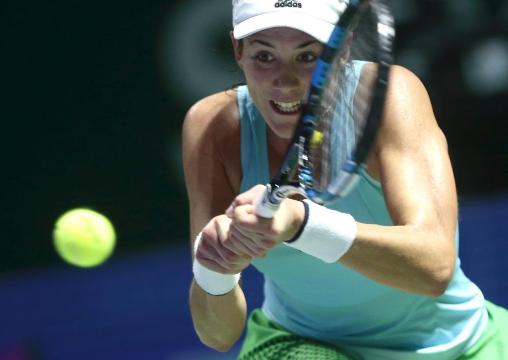 Fotografía de Garbiñe Muguruza-segundo partido-WTA Finals Singapur 2016