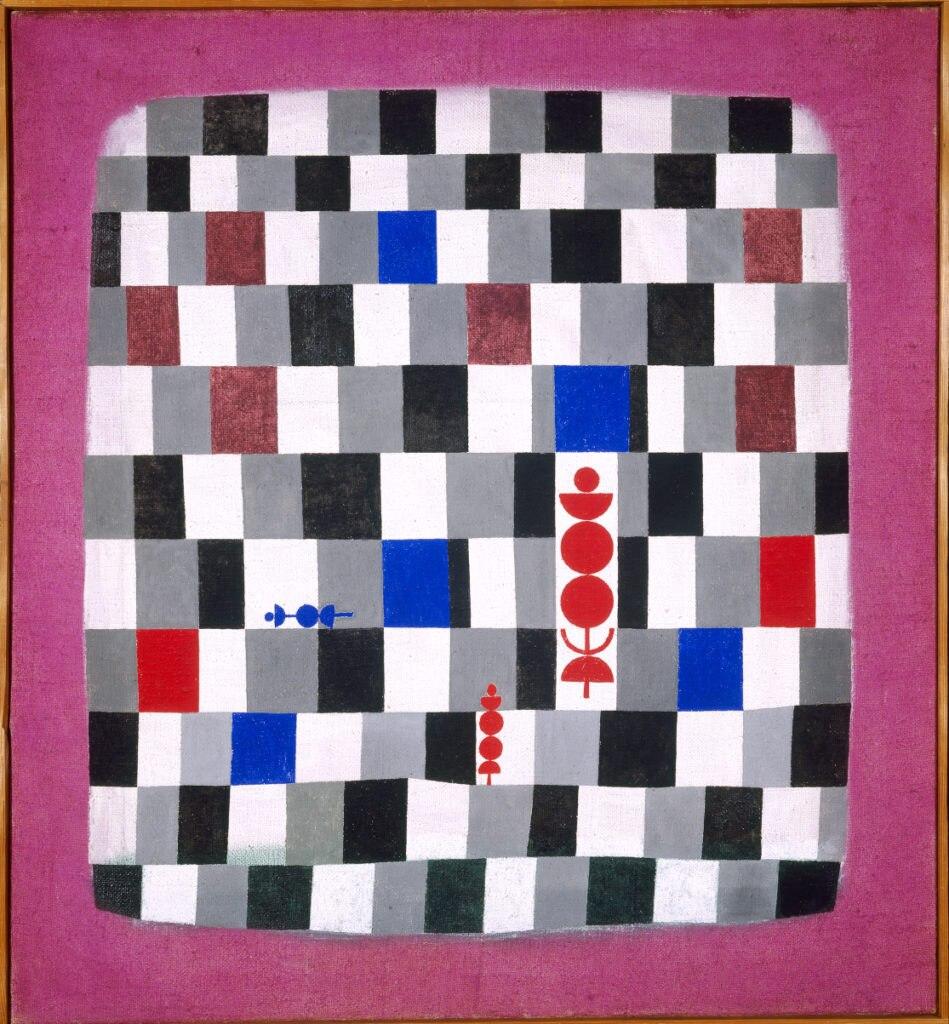 Imagen del cuadro de Gran tablero de ajedrez, de Paul Klee, que forma parte de la exposición patrocinada por la Fundación BBVA en la Fundació Miró de Barcelona