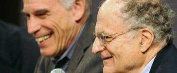 Fotografía de Thomas J. Sargent y Christopher A. Sims, premios Nobel de economía