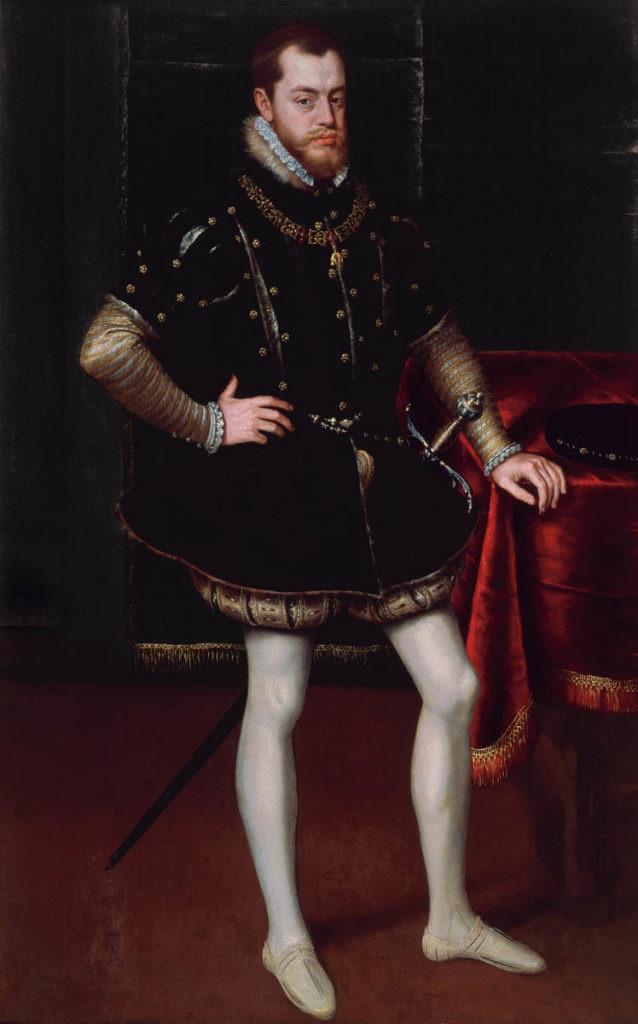 Fotografía del cuadro Felipe II Colección BBVA