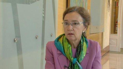 Imagen de María José García Borge, científica del CERN durante su visita a la Fundación BBVA