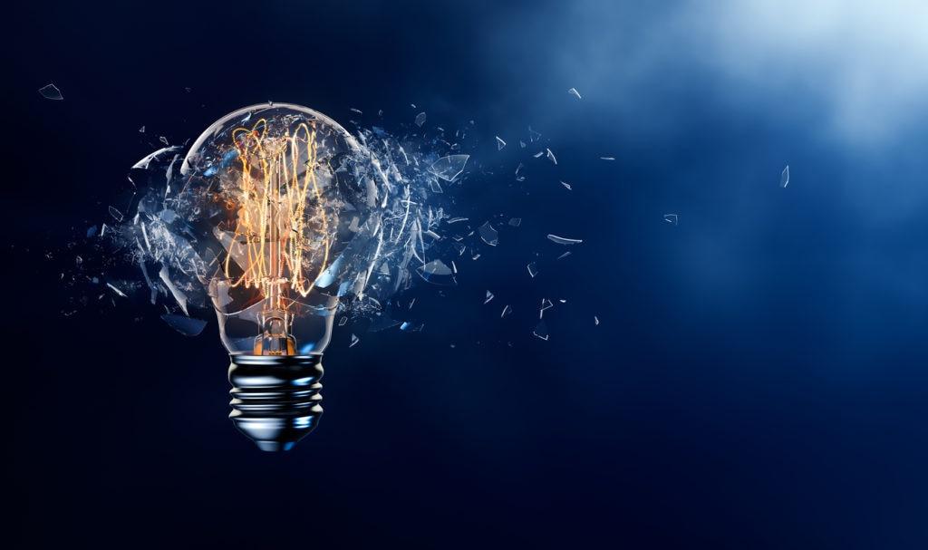 Bombilla explosión cristal Luz recurso BBVA