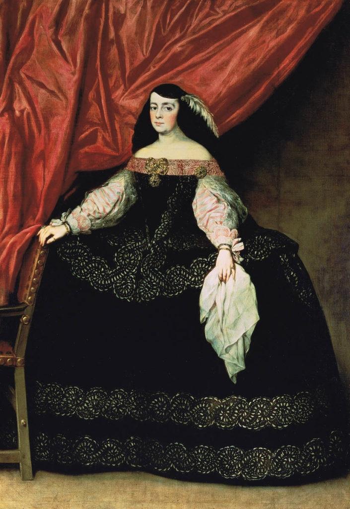 Fotografía del cuadro de Doña María de Vera y Gasca, Juan Carreño de Miranda Colección BBVA