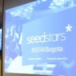 Fotografía del escenario de Seedstars Bogotá 2016