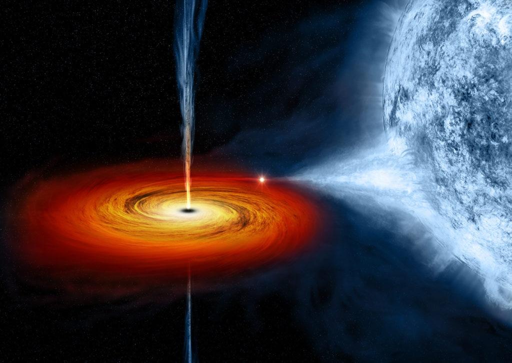 Recreación del agujero negro en la Vía Láctea (NASA). Conferencias Astrofísica Fundación BBVA
