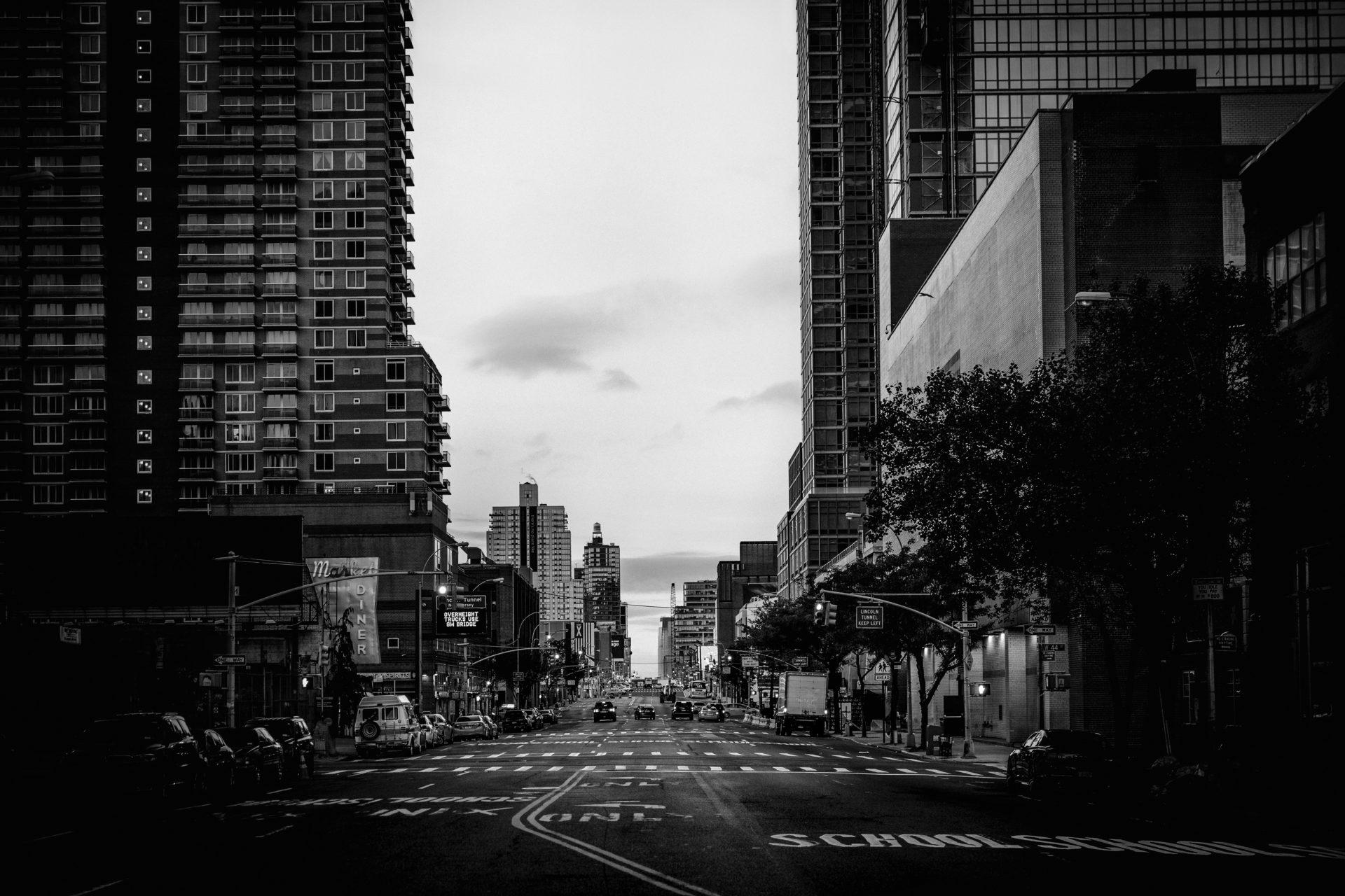 recurso, ciudad, blanco y negro, urbano, barrio, edificios, negocios
